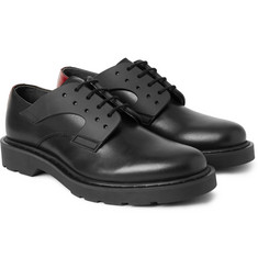 Alexander McQueen Rubber-Trimmed Two-Tone Leather Derby Shoes