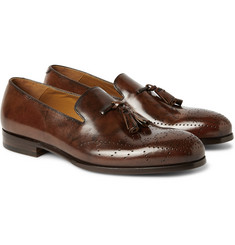 Alexander McQueen Brogue-Detailed Tasselled Leather Loafers