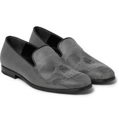 Alexander McQueen Polka-Dot Leather Loafers