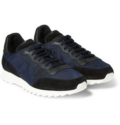 Alexander McQueen Leather and Suede-Panelled Twill Sneakers