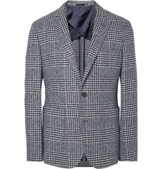 Hardy Amies Navy Herbert Slim-Fit Houndstooth Wool-Blend Blazer