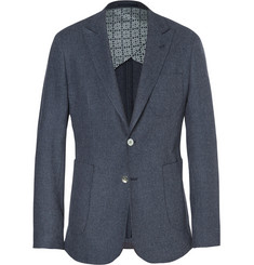 Hardy Amies Basketweave Cotton and Wool-Blend Blazer