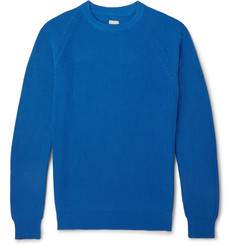 Hardy Amies Hopkins Ribbed-Knit Cotton Sweater