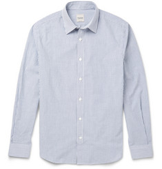 Hardy Amies Victor Striped Cotton-Seersucker Shirt