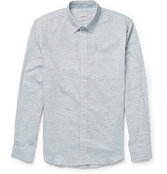 Hardy Amies Slub Cotton, Linen and Ramie-Blend Shirt