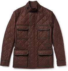 Berluti Quilted Leather Field Jacket
