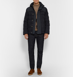 Berluti Quilted Nubuck and Suede Jacket with Detachable Hood and Sleeves