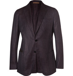 Berluti Aubergine Slim-Fit Wool, Silk, Linen and Cashmere-Blend Blazer
