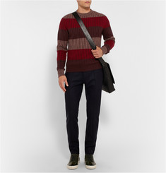 Berluti Striped Cashmere, Silk and Wool-Blend Sweater