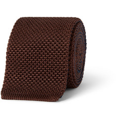 Berluti Two-Tone Knitted-Silk Tie