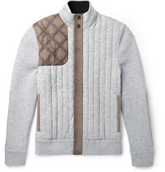 Berluti Slim-Fit Suede-Panelled Quilted Cashmere Jacket