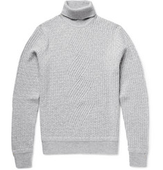 Berluti Cable-Knit Cashmere Rollneck Sweater