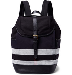 Burberry Shoes & Accessories Jute and Cotton-Blend Backpack