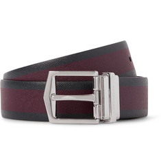 Burberry Shoes & Accessories 3.5cm Reversible Textured-Leather Belt