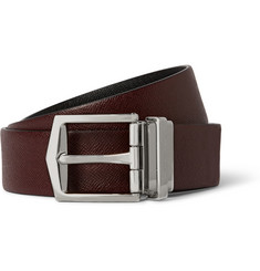 Burberry Shoes & Accessories 4cm Reversible Textured-Leather Belt