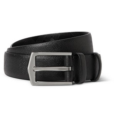 Burberry Shoes & Accessories 3cm Black Textured-Leather Belt