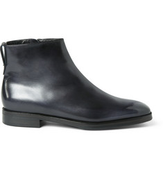 Berluti Shearling-Lined Leather Boots