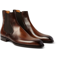 Berluti Burnished-Leather Chelsea Boots