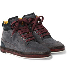 Berluti - Ferro Suede and Leather High-Top Sneakers