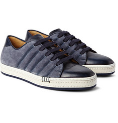 Berluti Playfield Washed-Suede and Burnished-Leather Sneakers