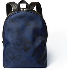 Alexander McQueen Skull Jacquard And Leather Backpack