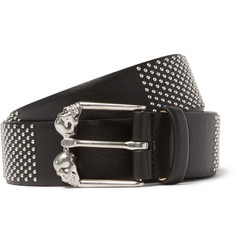 Alexander McQueen 3.5cm Black Studded Leather Belt