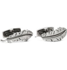 Alexander McQueen Silver-Tone Feather Cufflinks