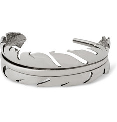 Alexander McQueen Silver-Plated Feather Bracelet