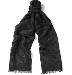 Alexander McQueen Skull-Patterned Silk and Modal-Blend Scarf