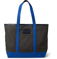 Marc by Marc Jacobs Take Me Homme Jimmy Leather-Trimmed Cotton-Canvas Tote Bag