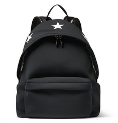 Givenchy Star-Embossed Leather and Neoprene Backpack