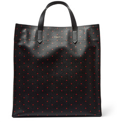 Givenchy Cross-Print Pebble-Grain Leather Tote Bag