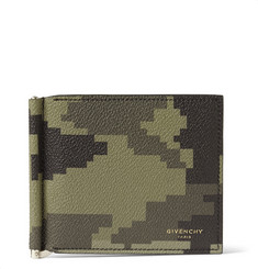 Givenchy Camouflage-Print Faux Leather Billfold Wallet