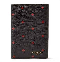 Givenchy Cross-Print Grained-Leather Cardholder