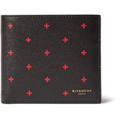 Givenchy Printed Grained-Leather Billfold Wallet