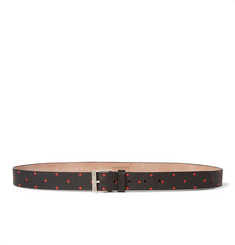 Givenchy 1.5cm Black Cross-Print Leather Belt