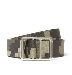 Givenchy 3cm Camouflage-Print Faux Leather Belt