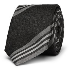 Givenchy Striped Silk and Wool-Blend Tie