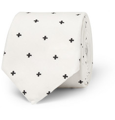 Givenchy Cross-Print Cotton Tie