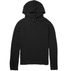 James Perse Slub Cotton-Piqué Hoodie