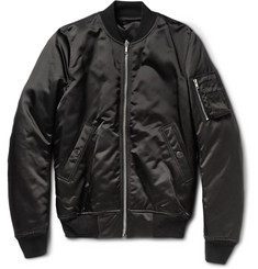 Rick Owens Satin Down Bomber Jacket