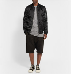Rick Owens Down-Filled Satin Bomber Jacket