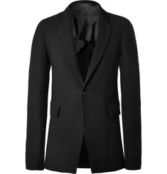 Rick Owens Black Slim-Fit Stretch Wool-Blend Jacket