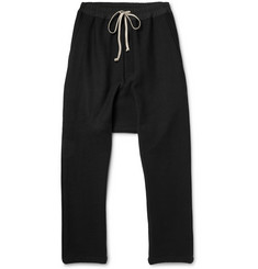 Rick Owens Drop-Crotch Wool-Blend Trousers