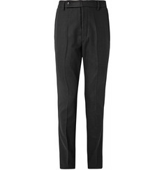 Rick Owens Astaire Drop-Crotch Melton Wool-Blend Trousers
