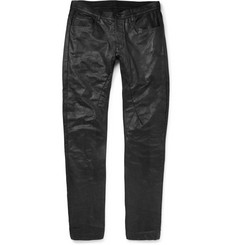 Rick Owens Detroit Slim-Fit Leather Jeans
