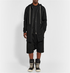 Rick Owens Long-Line Washed Cotton-Jersey Hoodie