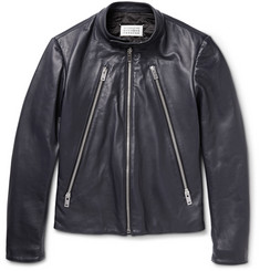 Maison Margiela Zipper-Trimmed Leather Jacket