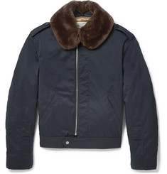 Maison Margiela Faux Fur-Trimmed Shell Bomber Jacket