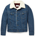 Maison Margiela - Faux Shearling-Trimmed Denim Jacket